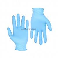 NITRILE GLOVES LARGE BLUE (PACK OF 100) HIGH STRENGTH