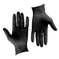 LATEX GLOVES EXTRA LARGE BLACK (PACK OF 100) HIGH STRENGTH