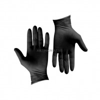 NITRILE GLOVES BLACK LARGE (PACK OF 100)