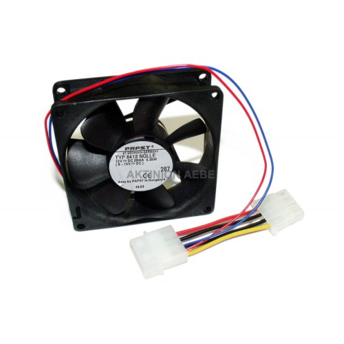 Fan super silent 12 Vdc 8 x 8 x 2,5 with 4 pin board terminal black PAPST 8412NGLLE