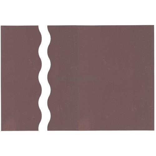 Laboratory card copper plated