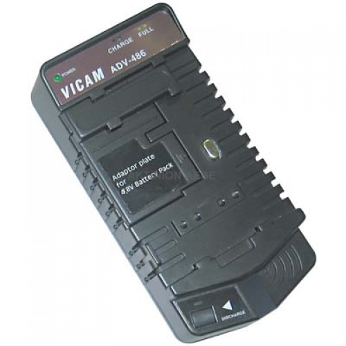 ADV-486 Universal normal/quick charger/discharger for camcorder battery