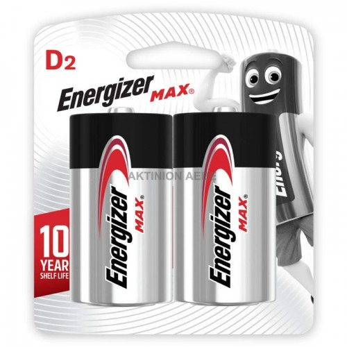 ENERGIZER D-LR20/2TEM Αλκαλικές μπαταρίες MAX σε blister 2 τεμαχίων