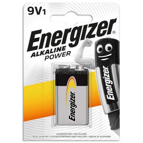 9V-6LR61 ALKALINE POWER Αλκαλική μπαταρία Energizer 6LR61 9V