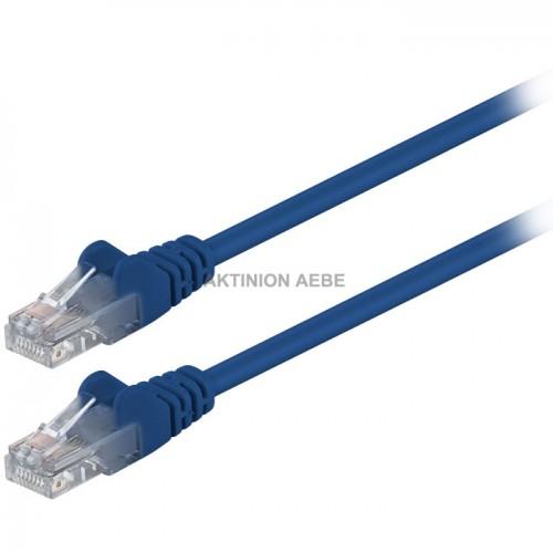 68340 Καλώδιο δικτύου CAT5 UTP 1m σε μπλε χρώμα