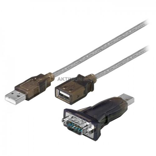 95436 Σειριακός μετατροπέας USB Α αρσ. - DB 9pin αρσ