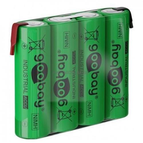 55580 Επαναφορτιζόμενη μπαταρία 4.8V 2100mAh AA (Mignon) Ni-MH με λαμάκια