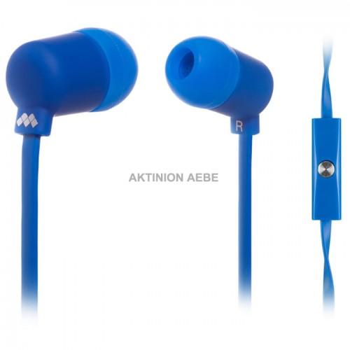 MELICONI MYSOUND SPEAK FLUO BLUE Στερεοφωνικά ακουστικά με μικρόφωνο