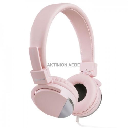 MELICONI 497457 SPEAK METAL ROSE Στερεοφωνικά ακουστικά με μικρόφωνο