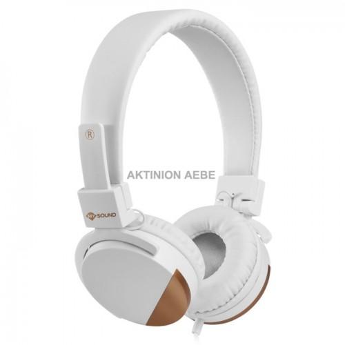 MELICONI 497458 SPEAK METAL WHITE Στερεοφωνικά ακουστικά με μικρόφωνο