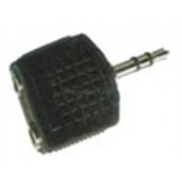 Adaptor 3,5st Αρσενικό σε 2 x 3,5st Θηλυκά AA-042