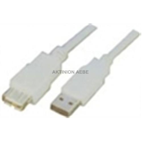 Καλώδιο USB 2.0 A αρσ. - USB A αρσ., 5m. JCR-455