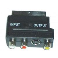 ADAPTOR SCART ΣΕ 3 RCA+S-VHS CR-321