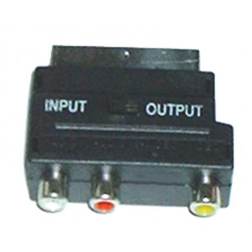 ADAPTOR SCART-3 RCA CR-320