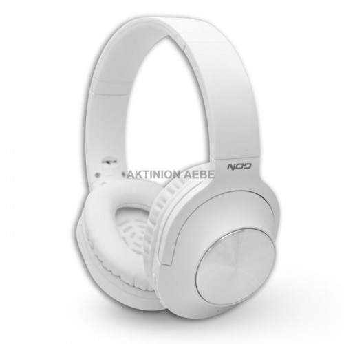 NOD PLAYLIST WHITE Bluetooth over-ear headphones with microphone