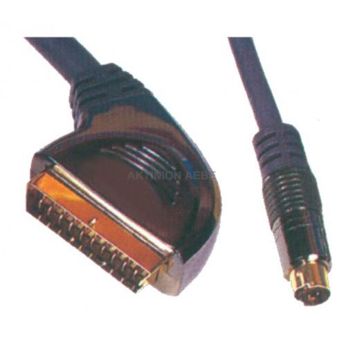 ΚΑΛΩΔΙΟ SCART ΣΕ S-VHS CR-637/1.5M
