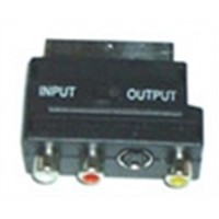 ADAPTOR SCART ΣΕ 3 RCA+S-VHS CR-316