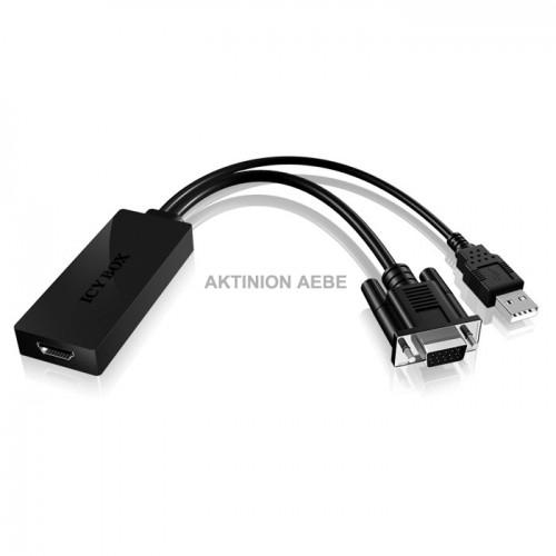 IB-AC512 Μετατροπέας VGA και USB αρσ σε HDMI θηλ