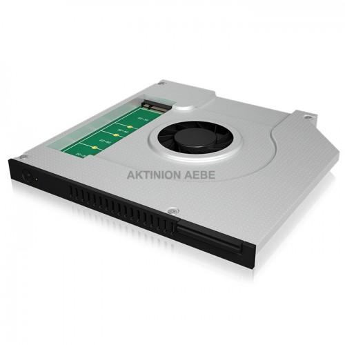 IB-AC647 Αντάπτορας για σκληρούς δίσκους M.2 SATA SSD για τοποθέτηση στην θύρα DVD ενός φορητού Η/Υ