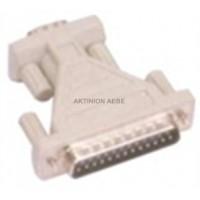ADAPTOR RS232 9P FEMALE / 25P MALE AA-023