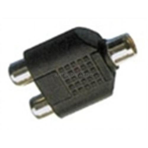 Adaptor RCA ΘΗΛΥΚΟ ΣΕ 2 RCA ΘΗΛΥΚΑ AA-060