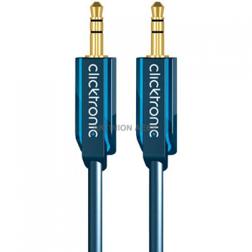 Καλώδιο ήχου Clicktronic 3.5mm stereo αρσ. - 3.5mm stereo αρσ 70477/1.50m