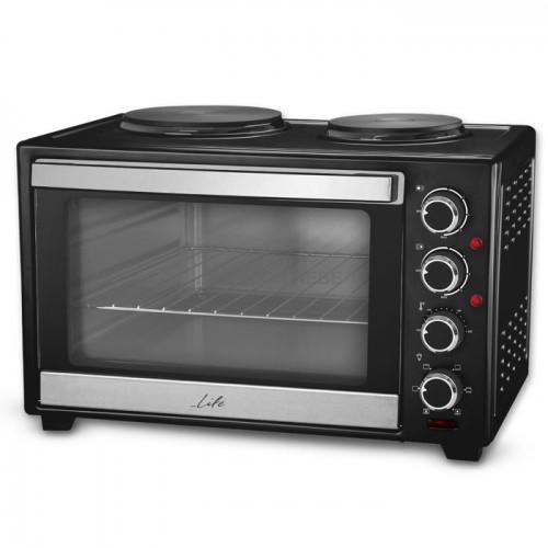 LIFE Kouzinaki 382 Ηλεκτρικό κουζινάκι 38L με κυκλοφορία θερμού αέρα και 2 εστίες 3200W