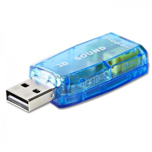 NEDIS USCR10051BU Εξωτερική κάρτα ήχου USB 2.0