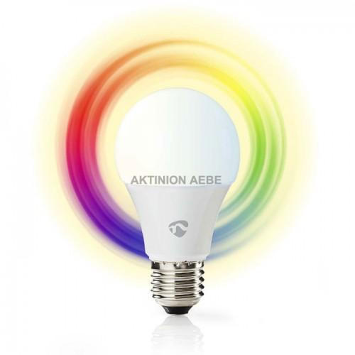 Wi-Fi έξυπνη λάμπα RGB LED E27 6W NEDIS WIFILC10WTE27