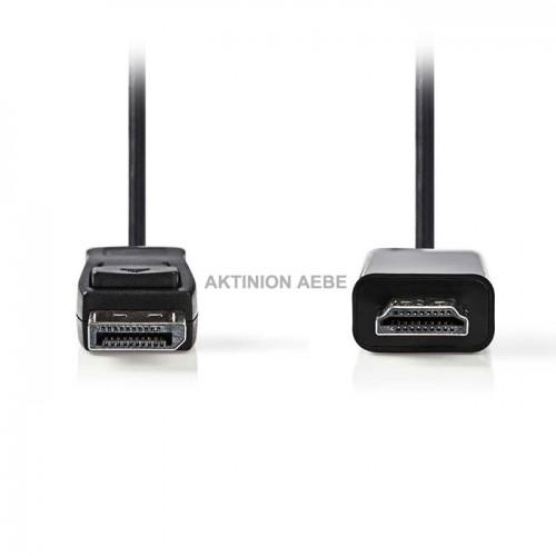 NEDIS CCGP37100BK20 Καλώδιο εικόνας DisplayPort αρσ σε HDMI αρσ 2m