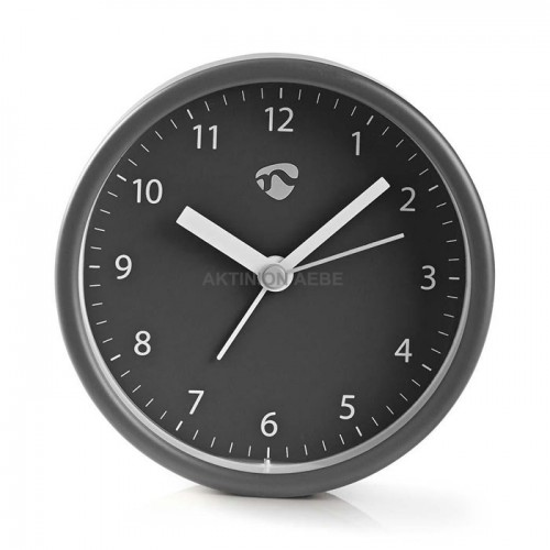 NEDIS CLDK006GY Επιτραπέζιο αναλογικό ρολόι ξυπνητήρι