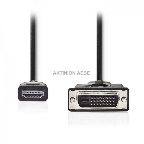 NEDIS CCGP34800BK100 Καλώδιο HDMI αρσ DVI-D αρσ 10m