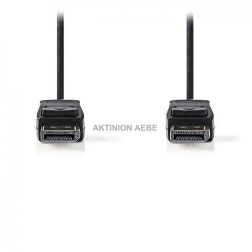 NEDIS CCGP37010BK20 Καλώδιο DisplayPort αρσ DisplayPort αρσ 2m