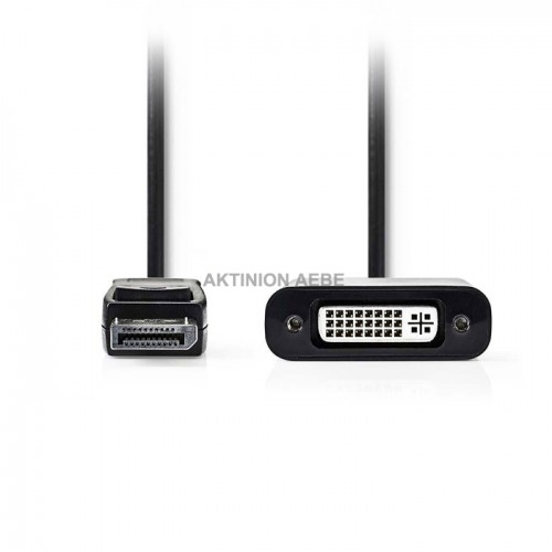 NEDIS CCGP37250BK02 Αντάπτορας DisplayPort αρσ DVI-D θηλυκό 0.2m