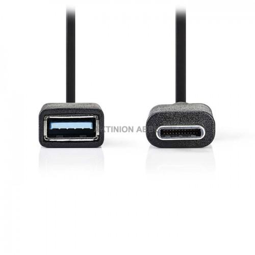 NEDIS CCGP61710BK02 Καλώδιο OTG USB 3.0 C αρσ σε Α θηλ 0.15m