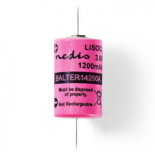 NEDIS BALTER14250A Μπαταρία Lithium Thionyl Chloride 1/2 AA 3.6V 1200mAh με σύρμα