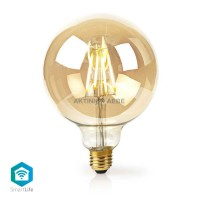 Wi-Fi Smart LED Filament Bulb E27 5W NEDIS WIFILF10GDG125