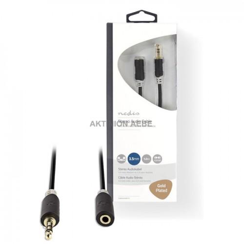 NEDIS CABW22050AT10 Καλώδιο προέκτασης ήχου 3.5mm Stereo αρσ 3.5mm Stereo θηλ 1m