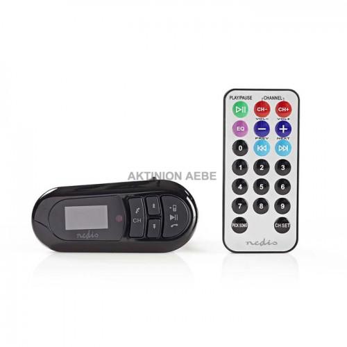 NEDIS CATR100BK Bluetooth αναμεταδότης FM με μικρόφωνο για χρήση ως handsfree