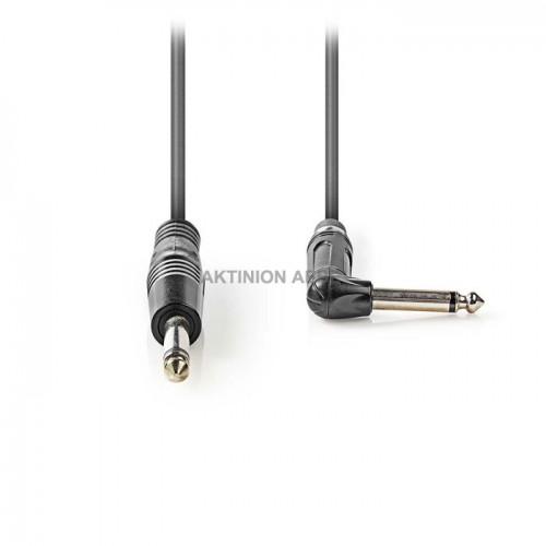 NEDIS COTH23005GY15 Καλώδιο ήχου mono 6.35mm αρσ 6.35mm αρσ γωνία 1.5m
