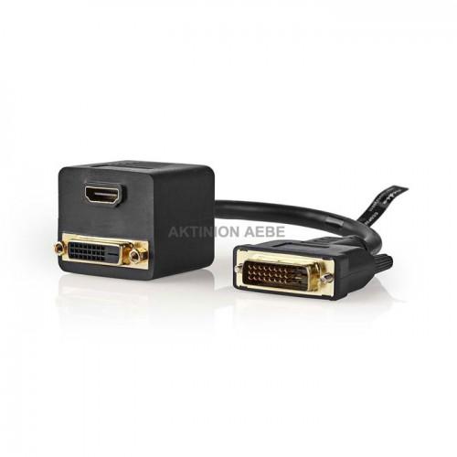 NEDIS CCGP32951BK02 Splitter DVI-D αρσ>DVI-D θηλ + HDMI θηλ 0.20m