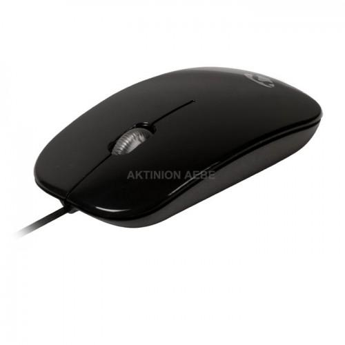 NEDIS MSWD200BK Εξαιρετικά λεπτό οπτικό ποντίκι USB 1000 DPI