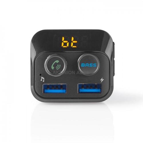 NEDIS CATR120BK 3σε1 Bluetooth αναμεταδότης FM, hands free και φορτιστής