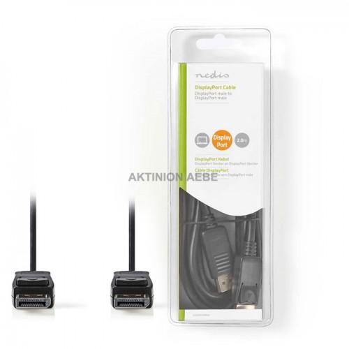 NEDIS CCGB37010BK20 Καλώδιο DisplayPort αρσ DisplayPort αρσ 2m