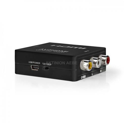 NEDIS VCON3456AT Ψηφιακός μετατροπέας βίντεο από 3xRCA (AV) σε HDMI