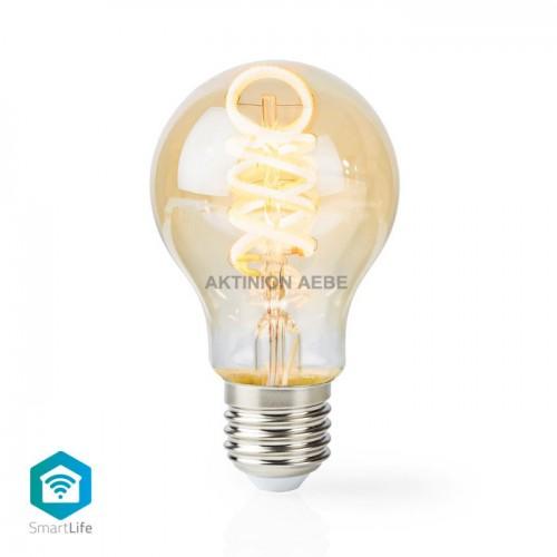 Wi-Fi Warm to Cool White LED Filament Bulb Twisted E27 5.5 W NEDIS WIFILT10GDA60