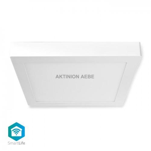 Wi-Fi Smart Ceiling Light Square 30x30cm RGB 1200 lm 18 W NEDIS WIFILAC30WT