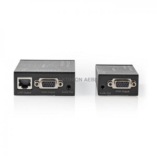 NEDIS CREP5930BK VGA Extender μέσω UTP για επέκταση του σήματος ήχου και εικόνας μέχρι 300m