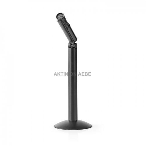 NEDIS MICSJ100BK Ενσύρματο μικρόφωνο με ενσωματωμένη βάση στήλη και καλώδιο 1.8m
