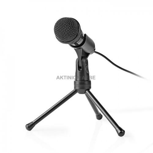 NEDIS MICTJ100BK Ενσύρματο μικρόφωνο με τρίποδα και καλώδιο 1.8m